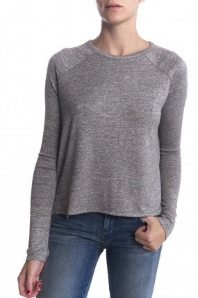 Rag and Bone Rag & Bone Camden Long Sleeve Tee Grey