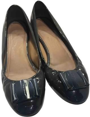 Salvatore Ferragamo Black Patent leather Ballet flats