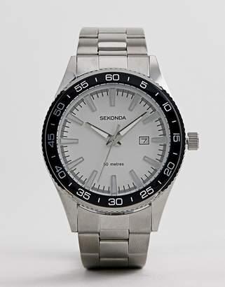 Sekonda Bracelet Watch In Silver Exclusive To ASOS