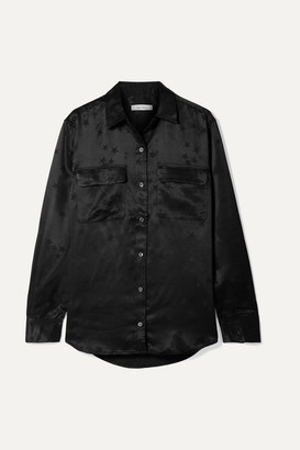 Equipment Tabitha Simmons Signature Printed Satin Shirt - Black