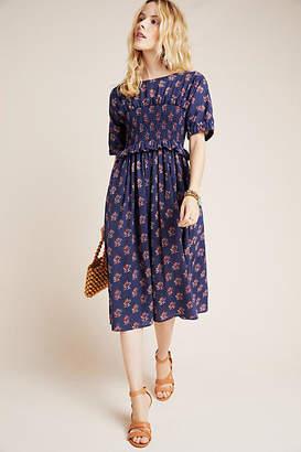 Corey Lynn Calter Patsy Smocked Midi Dress