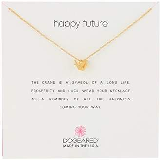 Dogeared Reminders- Happy Future' Dipped Sterling Silver Oragami Crane Charm Necklace