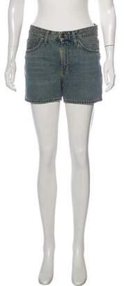 Saint Laurent Denim Mini Shorts