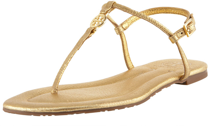 Tory Burch Emmy Metallic Thong Sandal