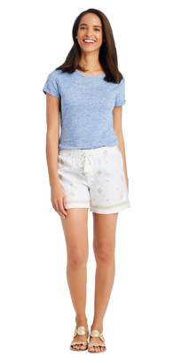 J.Mclaughlin St. Lucia Embroidered Linen Shorts