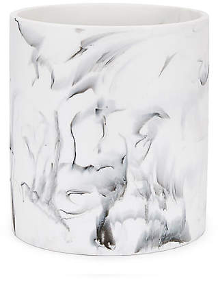 Kassatex Arabesco Wastebasket - White/Black