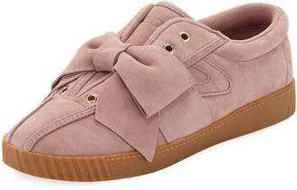 Tretorn NYLite Silky Suede Lace-Up Sneakers w/ Bow