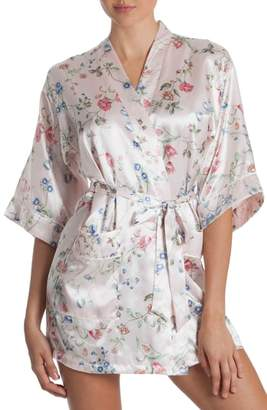 Jonquil In Bloom by Floral Print Satin Robe