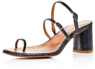 LOQ Women's Alba Embossed Block Heel Sandals