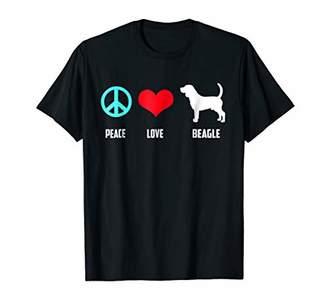 Mini A Ture Miniature Beagle T-shirt Peace Love Miniature Beagle