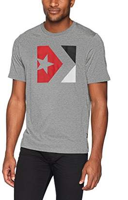 Converse Men's Star Chevron Tri-Color Short Sleeve T-Shirt