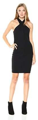 Pam & Gela Women's Twist Collar Dress
