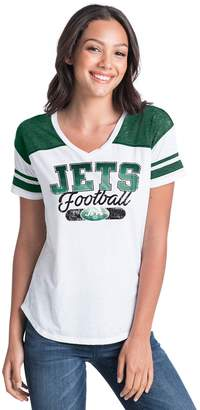 New Era Women's New York Jets Burnout Tee