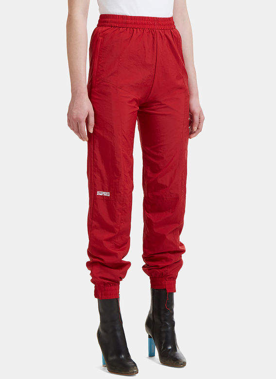 X Reebok Reworked Track Pants in Red