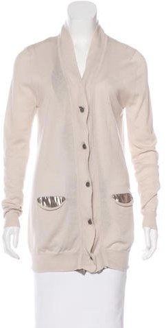 3.1 Phillip Lim 3.1 Phillip Lim Metallic-Accented V-Neck Cardigan
