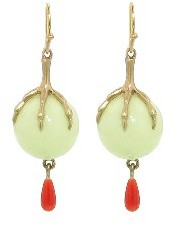 Annette Ferdinandsen Chrysophase Balls with Claw & Coral Drops