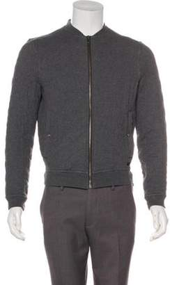Burberry Quilted Bomber Jacket grey Quilted Bomber Jacket