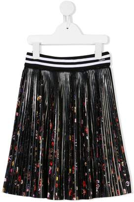 Givenchy Kids floral pleated skirt