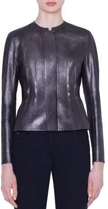 Akris Darling Metallic Napa Leather Jacket
