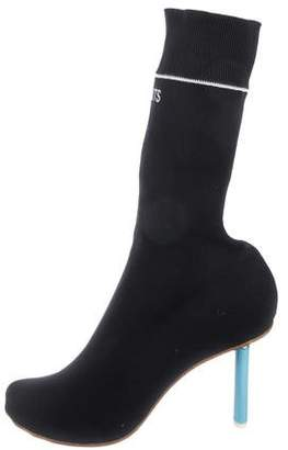 competitive price c6714 e9570 90MM Knit Sock Vetements Ankle Boots w6FPqxAY0f