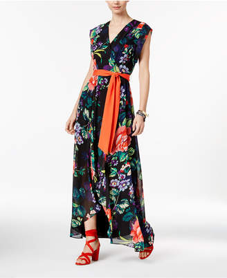 INC International Concepts Printed High-Low Maxi Dress, Only at Macy's $159.50 thestylecure.com