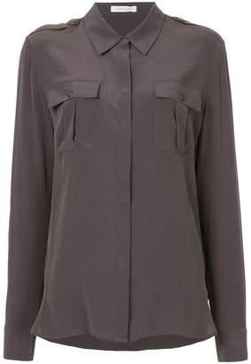Pierre Balmain longline chest pocket shirt