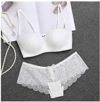 6fbadb33dbfc5 577Loby underwear Women Underwear 1 2 Cup Lace Bra Panty Set Floral Lingerie  Sets Lace