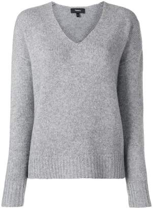 Theory V-neck knitted sweater