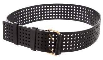 Saint Laurent Leather Perforated Waist Belt