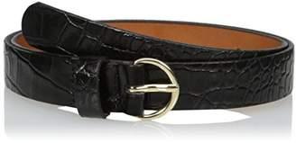Circa Women's Handcrafted Italian Leather Croc Embossed Belt