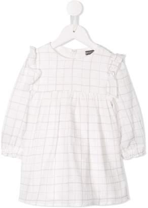 Yellowsub grid print smock dress