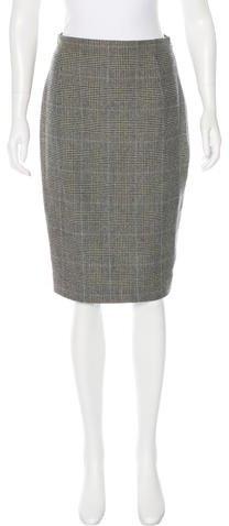 Ralph Lauren Collection Wool Houndstooth Skirt