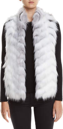 Fabulous Furs Limited Edition Hook-Front Faux-Fur Vest