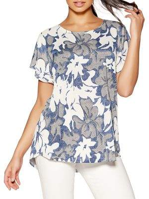 Quiz Oversized Floral-Print Tee