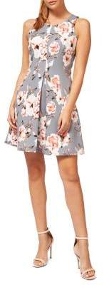 Dex Floral Sleeveless Fit--Flare Dress