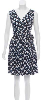Diane von Furstenberg Silk Sleeveless Wrap Dress