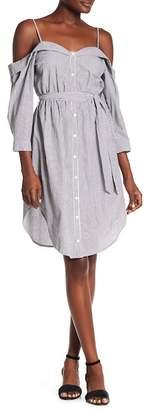 ASTR the Label Cold Shoulder Shirt Dress