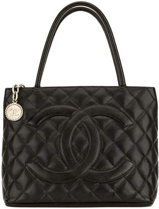 Chanel Black Quilted Caviar Medallion Tote (4078012)