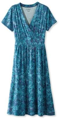 L.L. Bean L.L.Bean Summer Knit Dress, Short-Sleeve Paisley