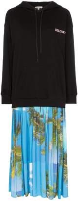 Natasha Zinko delovaya cotton and palm print hoodie dress