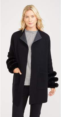 J.Mclaughlin Ashlin Cardigan with Faux Fur Trim