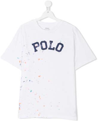 Ralph Lauren TEEN paint splatter logo T-shirt