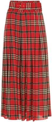 Emilia Wickstead tartan pleated skirt