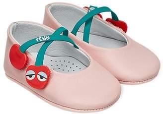 Fendi cherry ballerinas