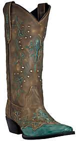 Laredo Dan Post Leather Cowboy Boots - Cross Point