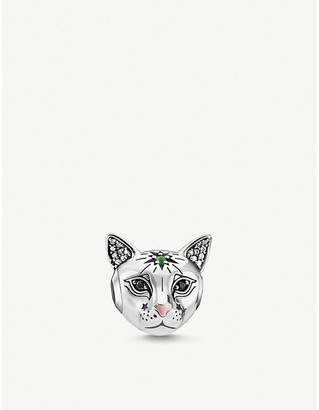 Thomas Sabo Cat-shaped sterling silver and zirconia bead