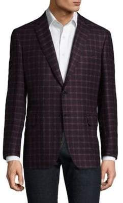 Brioni Checkered Wool Blazer