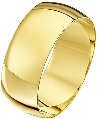 Theia Unisex Heavy Weight 2 mm D Shape 9 ct Yellow Gold Wedding Ring - S