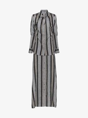 Y/Project Y / Project Striped linen maxi dress