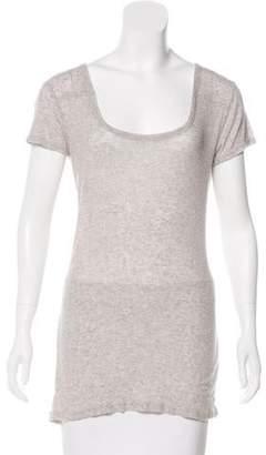 AllSaints Scoop Neck Short Sleeve Top